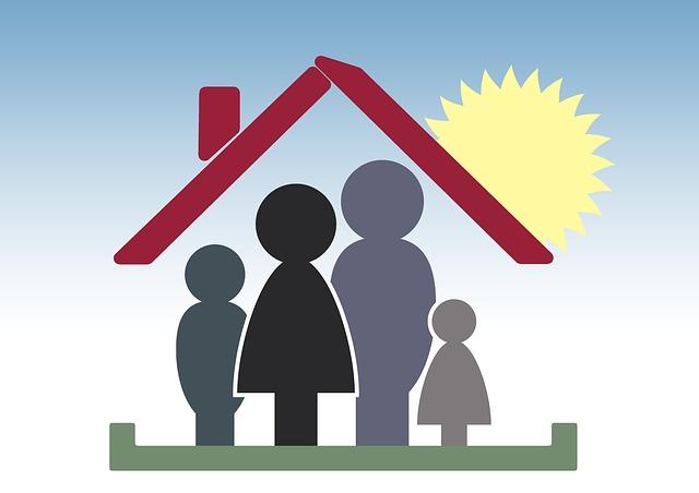 rodina v domě