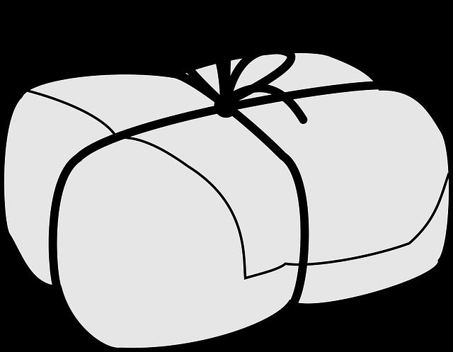 balík s mašlí