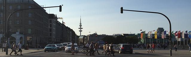 křižovatka ve městě