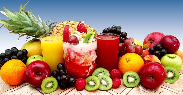 ovoce a džusy